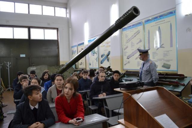Проведение экскурсии на военную кафедру КазНИТУ