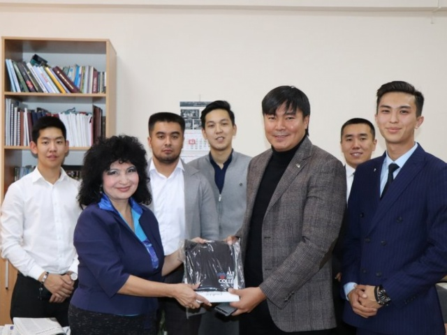 Meeting with the director of the Synergy University in Kazakhstan